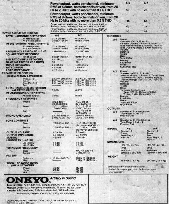 Onkyo A-7 specifications specs details.jpg